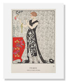 "MFA Prints archival replica print of George Barbier, ""Fumée - Robe du soir, de Beer"" from the Museum of Fine Arts, Boston collection."