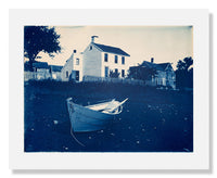 MFA Prints archival replica print of Arthur Wesley Dow, White Clapboard House and Dory from the Museum of Fine Arts, Boston collection.