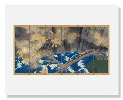 MFA Prints archival replica print of Shindō Reimei, Foot of the Falls from the Museum of Fine Arts, Boston collection.