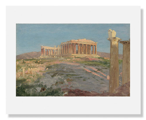 "MFA Prints archival replica print of Frederic Edwin Church, Study for ""The Parthenon"" from the Museum of Fine Arts, Boston collection."