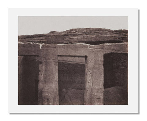 Félix Teynard, Monument Carved in Bedrock Pillars and Carved Sculptures of Left Side Ed Derr, Nubia