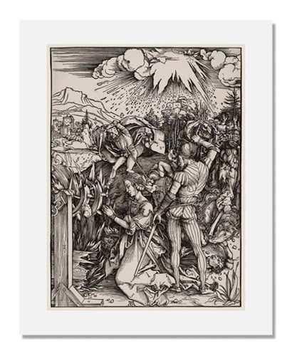 MFA Prints archival replica print of Albrecht Dürer, Martyrdom of Saint Catherine from the Museum of Fine Arts, Boston collection.