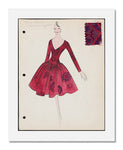 Arnold Scaasi, Sketch book   Fall 1960