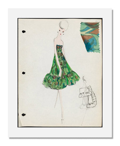 MFA Prints archival replica print of Arnold Scaasi, Sketch book Spring 1961 from the Museum of Fine Arts, Boston collection.