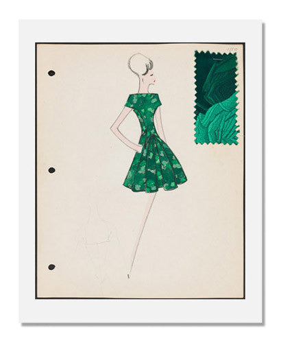 MFA Prints archival replica print of Arnold Scaasi, Sketch book Fall 1961 from the Museum of Fine Arts, Boston collection.