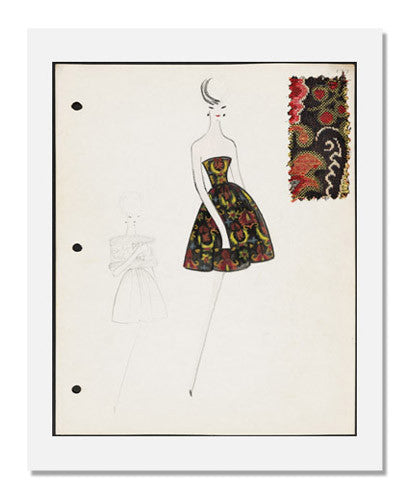Arnold Scaasi, Sketch book   Fall 1961