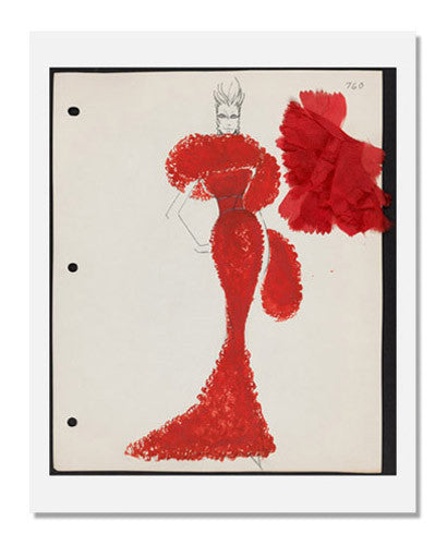 MFA Prints archival replica print of Arnold Scaasi, Sketch book Couture 1964 from the Museum of Fine Arts, Boston collection.