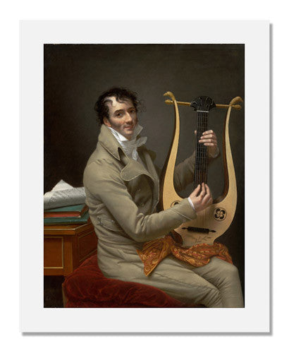 MFA Prints archival replica print of Adèle Romany, Joseph Dominique Fabry Garat Playing a Lyre Guitar from the Museum of Fine Arts, Boston collection.