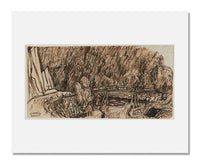Johannes Theodorus Toorop, Landscape with River and Wooden Bridge