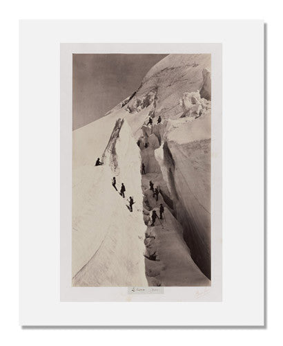 MFA Prints archival replica print of Auguste Rosalie Bisson, Le Crevasse (Savoie) from the Museum of Fine Arts, Boston collection.