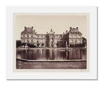 MFA Prints archival replica print of Édouard Denis Baldus, Palais du Luxembourg from the Museum of Fine Arts, Boston collection.