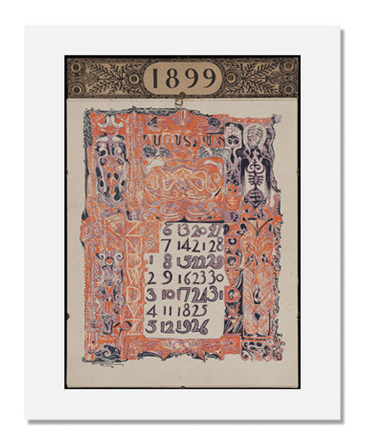 MFA Prints archival replica print of Scheltema & Holkema's Boekhandel, Kalender 1899 from the Museum of Fine Arts, Boston collection.