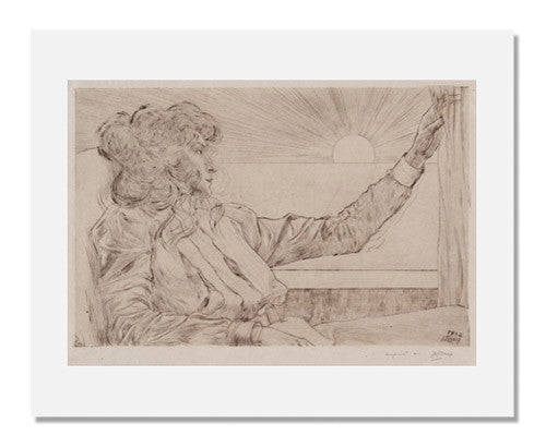 MFA Prints archival replica print of Johannes Theodorus Toorop, Woman Looking at the Sun from the Museum of Fine Arts, Boston collection.