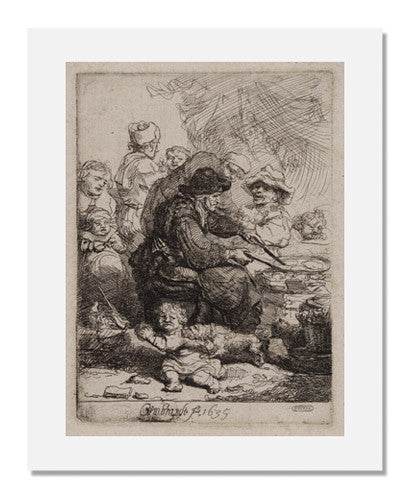 MFA Prints archival replica print of Rembrandt van Rijn, The Pancake Woman from the Museum of Fine Arts, Boston collection.