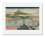 Katsushika Hokusai, The Kintai Bridge in Suō Province, from the series Remarkable Views of Bridges in Various Provinces