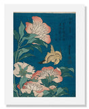MFA Prints archival replica print of Katsushika Hokusai, Peonies and Canary from the Museum of Fine Arts, Boston collection.