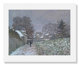 MFA Prints archival replica print of Claude Monet, Snow at Argenteuil from the Museum of Fine Arts, Boston collection.