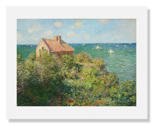 MFA Prints archival replica print of Fisherman's Cottage on the Cliffs at Varengeville by Claude Monet from the Museum of Fine Arts, Boston collection.