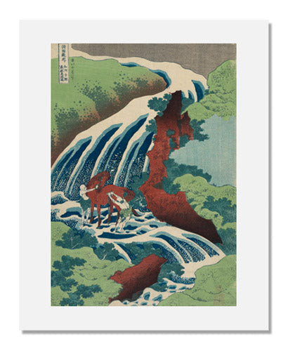 Katsushika Hokusai, Yoshitsune's Horse-washing Falls at Yoshino in Yamato Province, from the series A Tour of Waterfalls in Various Provinces
