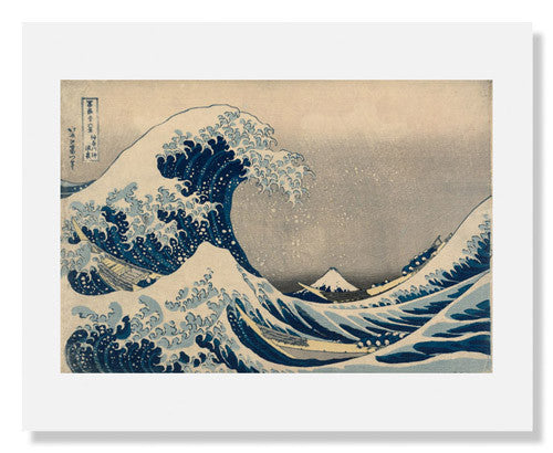 MFA Prints archival replica print of Under the Wave off Kanagawa by Katsushika Hokusai from the Museum of Fine Arts, Boston collection.