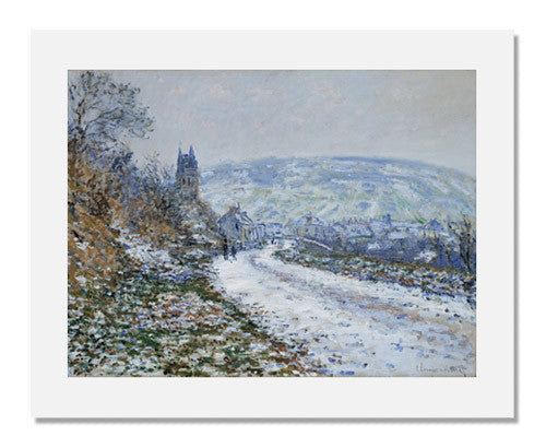 MFA Prints archival replica print of Claude Monet, Entrance to the Village of Vétheuil in Winter from the Museum of Fine Arts, Boston collection.