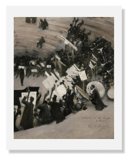 MFA Prints archival replica print of John Singer Sargent, Rehearsal of the Pasdeloup Orchestra from the Museum of Fine Arts, Boston collection.