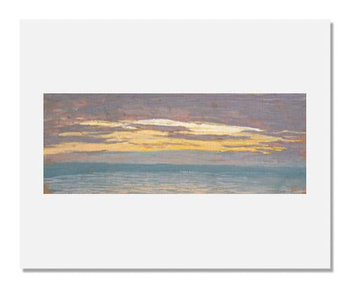 MFA Prints archival replica print of Claude Monet, View of the Sea at Sunset from the Museum of Fine Arts, Boston collection.