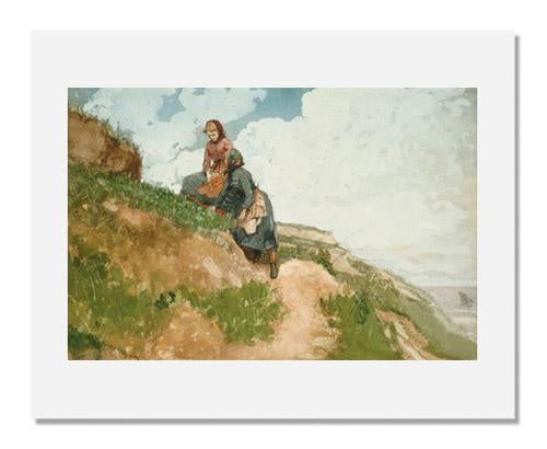 MFA Prints archival replica print of Winslow Homer, Girls on a Cliff from the Museum of Fine Arts, Boston collection.
