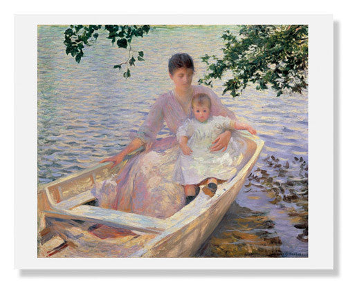 MFA Prints archival replica print of Edmund Charles Tarbell, Mother and Child in a Boat from the Museum of Fine Arts, Boston collection.