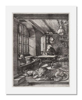 MFA Prints archival replica print of Albrecht Dürer, Saint Jerome in His Study from the Museum of Fine Arts, Boston collection.