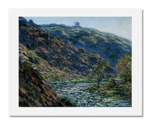 MFA Prints archival replica print of Claude Monet, Valley of the Petite Creuse from the Museum of Fine Arts, Boston collection.