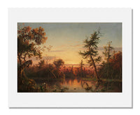MFA Prints archival replica print of Régis François Gignoux, View, Dismal Swamp, North Carolina from the Museum of Fine Arts, Boston collection.