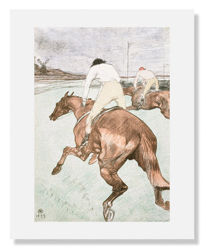 MFA Prints archival replica print of Henri de Toulouse Lautrec, Le Jockey from the Museum of Fine Arts, Boston collection.