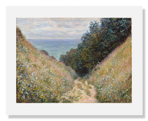 MFA Prints archival replica print of Claude Monet, Road at La Cavée, Pourville from the Museum of Fine Arts, Boston collection.