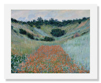 MFA Prints archival replica print of Claude Monet, Poppy Field in a Hollow near Giverny from the Museum of Fine Arts, Boston collection.