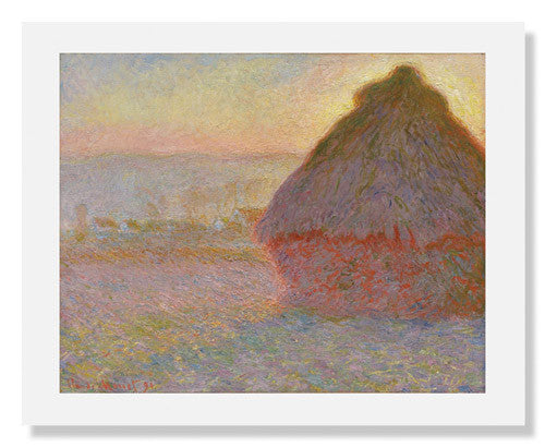 MFA Prints archival replica print of Grainstack (Sunset) by Claude Monet from the Museum of Fine Arts, Boston collection.