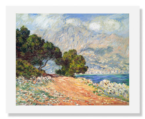 MFA Prints archival replica print of Claude Monet, Cap Martin, near Menton from the Museum of Fine Arts, Boston collection.