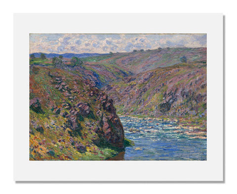 Claude Monet, Valley of the Creuse (Sunlight Effect)
