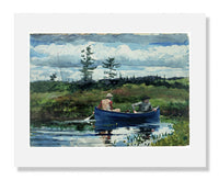 MFA Prints archival replica print of Winslow Homer, The Blue Boat from the Museum of Fine Arts, Boston collection.