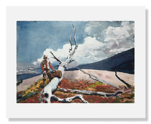 MFA Prints archival replica print of Winslow Homer, Woodsman and Fallen Tree from the Museum of Fine Arts, Boston collection.