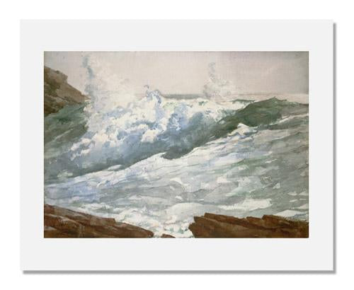 MFA Prints archival replica print of Winslow Homer, Breaking Wave (Prout's Neck) from the Museum of Fine Arts, Boston collection.