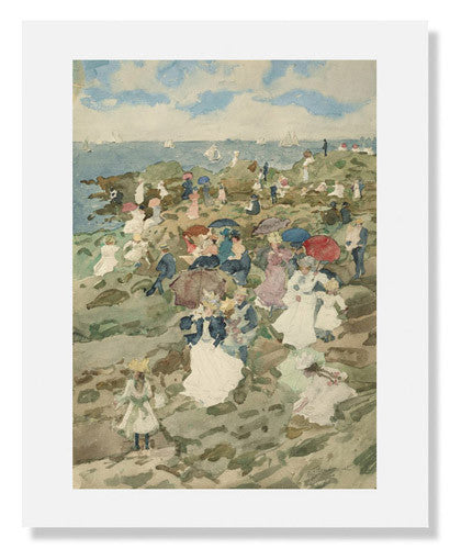 MFA Prints archival replica print of Maurice Brazil Prendergast, Handkerchief Point from the Museum of Fine Arts, Boston collection.