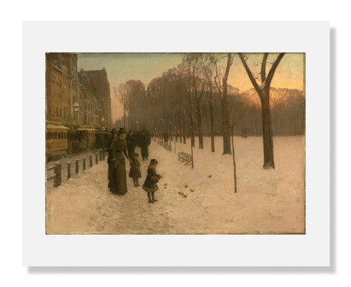 MFA Prints archival replica print of Childe Hassam, Boston Common at Twilight from the Museum of Fine Arts, Boston collection.