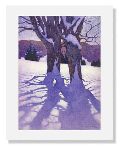 MFA Prints archival replica print of George Hawley Hallowell, Trees in Winter from the Museum of Fine Arts, Boston collection.