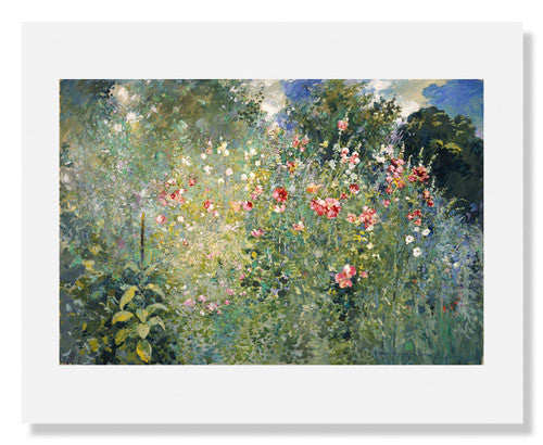 MFA Prints archival replica print of Ross Sterling Turner, A Garden Is a Sea of Flowers from the Museum of Fine Arts, Boston collection.