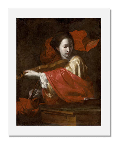 MFA Prints archival replica print of Bernardo Cavallino, Saint Cecilia from the Museum of Fine Arts, Boston collection.