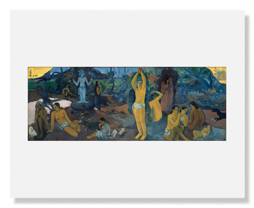 MFA Prints archival replica print of Paul Gauguin, Where Do We Come From? What Are We? Where Are We Going? from the Museum of Fine Arts, Boston collection.