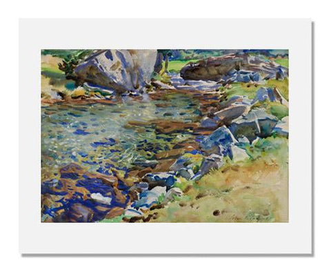 John Singer Sargent, Brook among Rocks