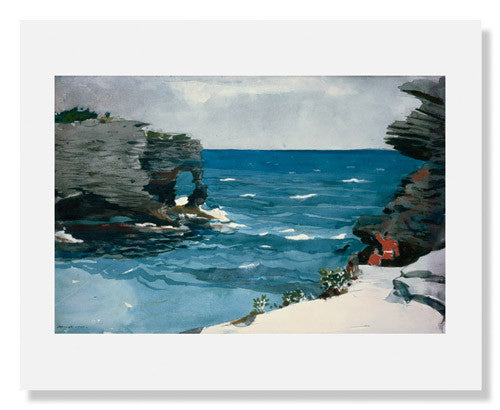 MFA Prints archival replica print of Winslow Homer, Rocky Shore, Bermuda from the Museum of Fine Arts, Boston collection.