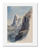 MFA Prints archival replica print of John Singer Sargent, The Eiger from Mürren from the Museum of Fine Arts, Boston collection.